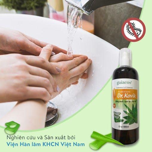 Nước rửa tay khô sát khuẩn Dr Kovik 500ml
